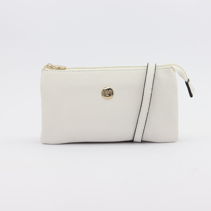 Evie pebbled leather clutch crossbody