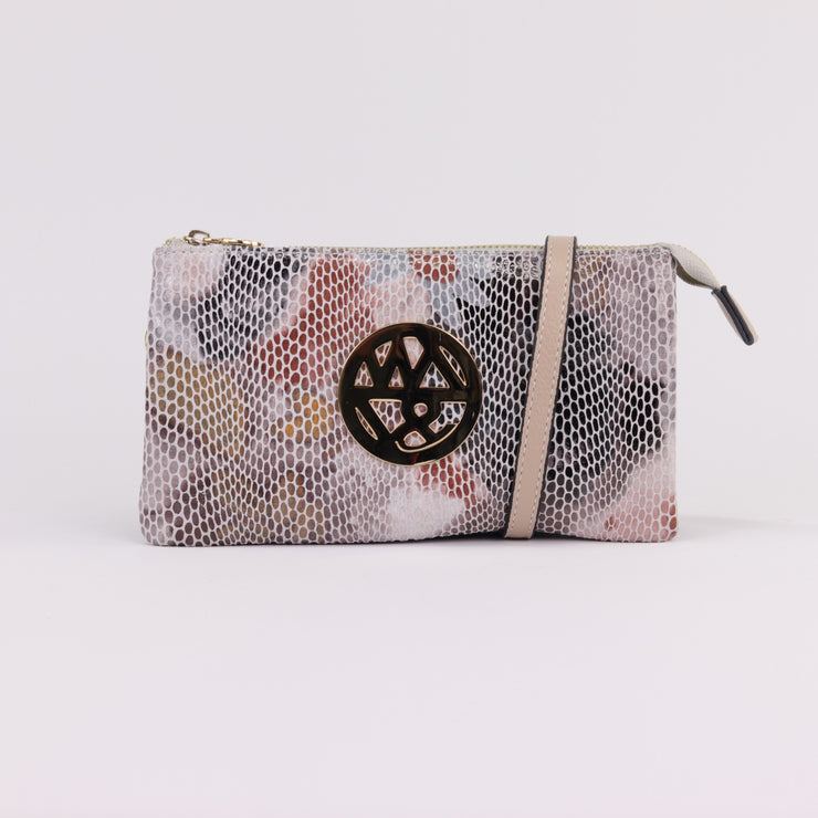Willow & Zac Katie soft floral printed suede clutch crossbody