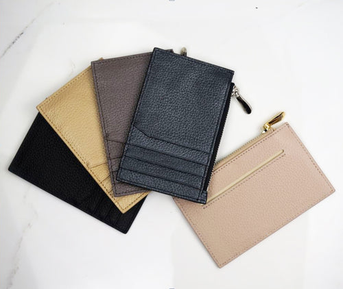 Metro zip cardholder - in 5 colours