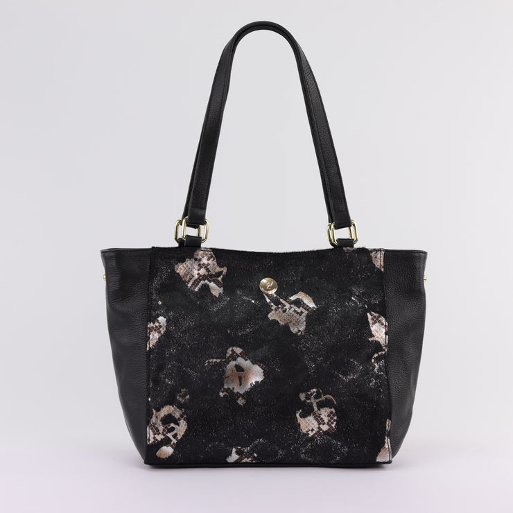 Willow & Zac Reanna tote black cowhide black leather handbag