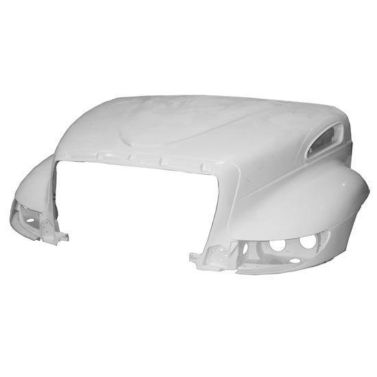 13834-N  International Durastar Fiberglass Hood 2010 & Newer Replaces OEM  3822156C94  / 4088267C91 - BC Heavy Truck Solutions