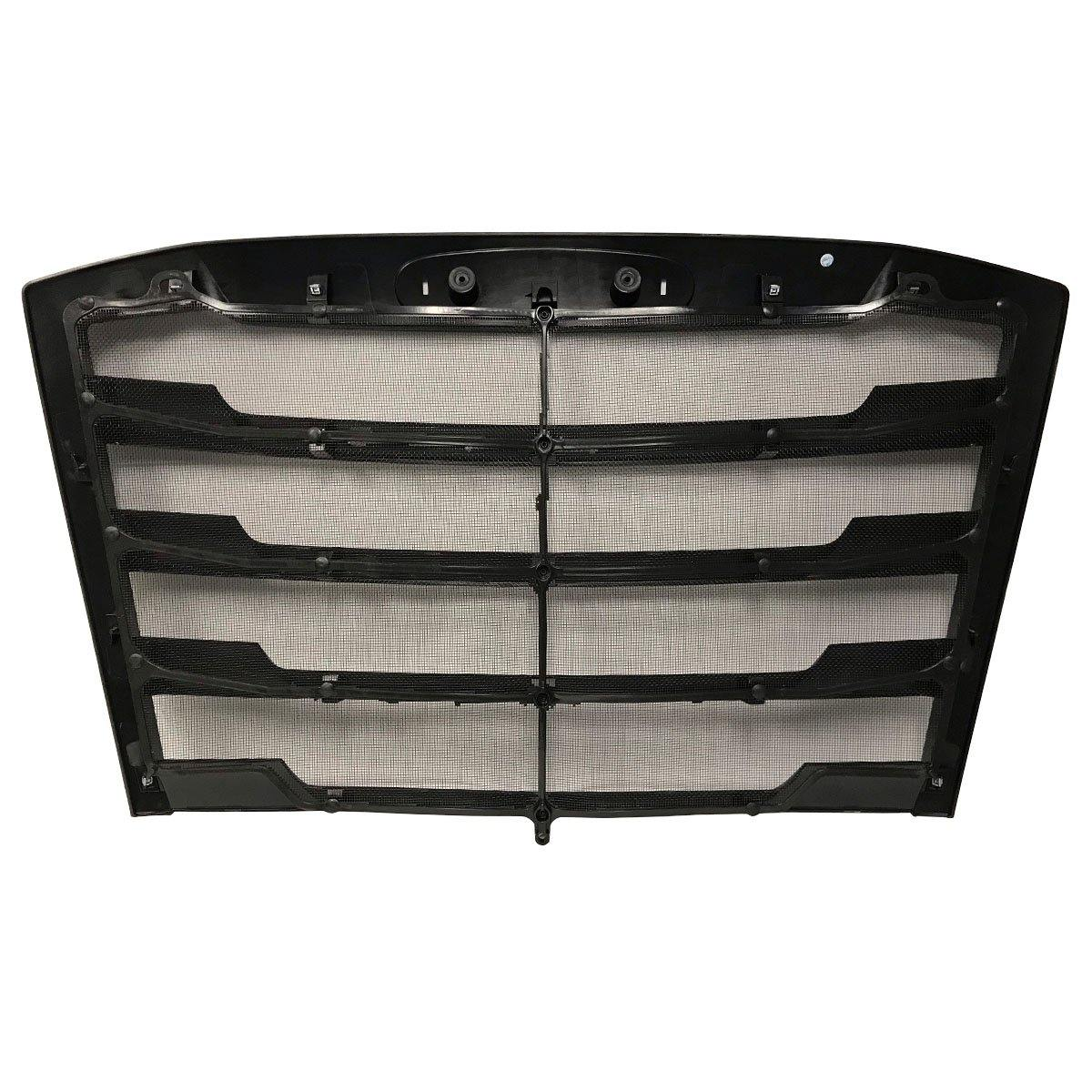18781-N Freightliner Cascadia Grille W/ Bug Screen (Satin Black) Replaces Oem  A17-20832-008 - BC Heavy Truck Solutions