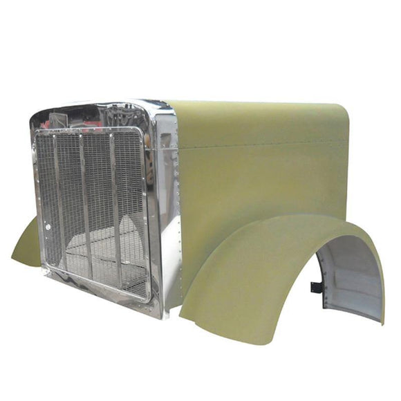 (20900) Peterbilt 379 Aluminium Hood W/Wide Lip Fenders ('88-'06) - BC Heavy Truck Solutions