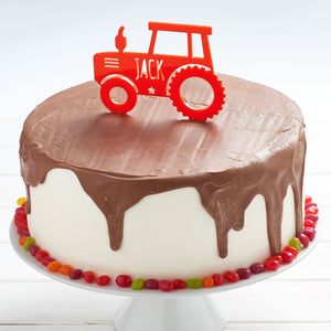 Tractor Birthday Cake Toppers