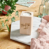 Wooden Couples Tealight Holder