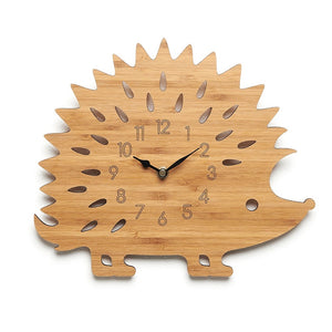 Personalised Hedgehog clock