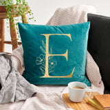 Personalised Floral Initial Cushion