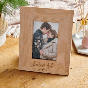 Personalised wooden Wedding Photo Frame