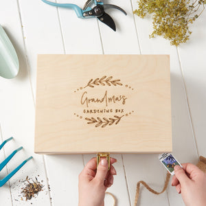 Personalised Grandma Gardening Box