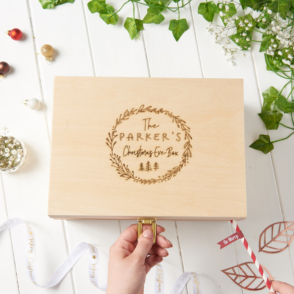 Personalised Floral Christmas Eve Box