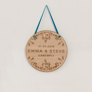 Personalised wooden Wedding gift