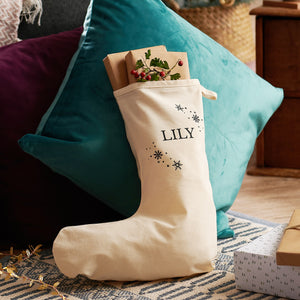 Personalised Snowflake Stocking