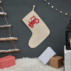 Personalised Tractor Christmas stocking