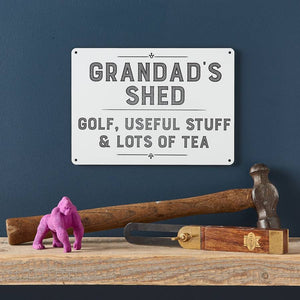 Personalised Grandad's Shed Sign