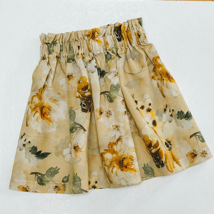Tilly Skirt | Mustard Peonies