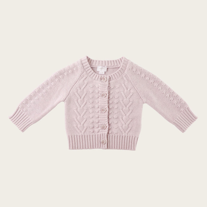 Jamie Kay Cable Cardigan - Dewberry Marle