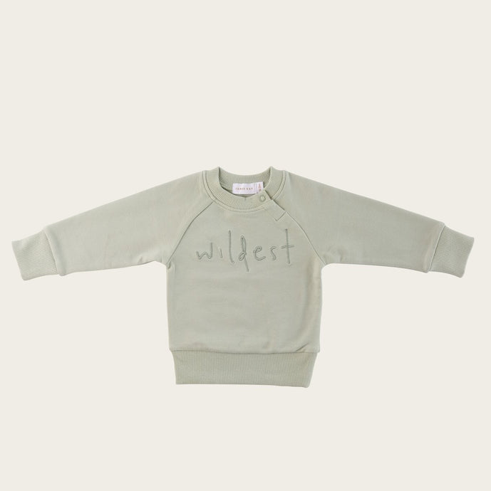 Jamie Kay Wildest Sweatshirt - Aqua Grey