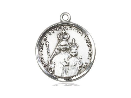Our Lady Of Consolation Silver Pendant And Chain