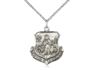 Lord Is My Shepherd Silver Pendant With Chain Religious