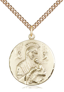Our Lady Of Perpetual Help Gold Filled Pendant