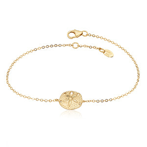 Gold Sand Dollar Adjustable Bracelet