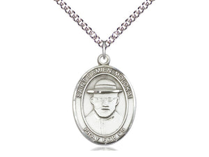 Saint Damien Of Molokai Silver Medal With Silver Chain Religious