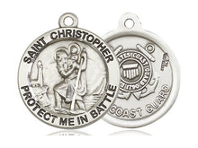 Load image into Gallery viewer, Saint Christopher Pendant With 24 Inch Chain Coast Guard Religious