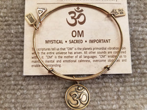 Wind And Fire OM Expandable Charm Bracelet
