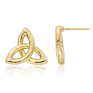 Celtic Infinity 14 K gold earrings