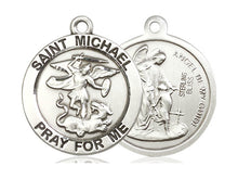Load image into Gallery viewer, Saint Michael Silver Pendant And Chain
