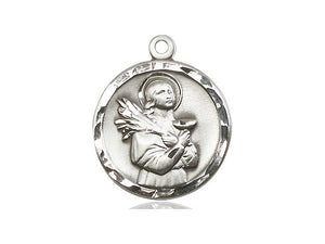 Saint Lucy Silver Pendant With Chain
