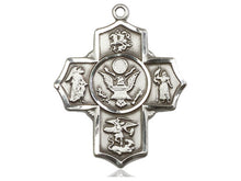 Load image into Gallery viewer, Army Five Way Silver Devotion Medals With Chain Religious