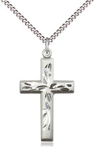 Load image into Gallery viewer, Silver Florentine Cross And Chain