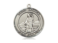 Load image into Gallery viewer, Saint Patrick Silver Medal Religious