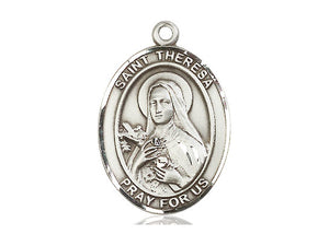 Saint Theresa Sterling Silver Medal With 18 Inch Chain Religious
