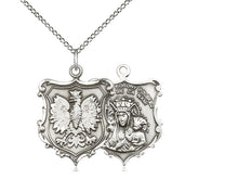 Load image into Gallery viewer, Our Lady Of Czestochowa Silver Pendant With Chain Religious
