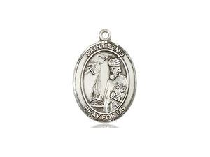 Saint Elmo Silver Pendant And Chain