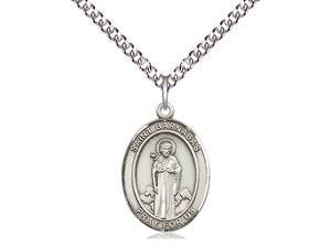 Saint Barnabas Silver Pendant And Chain
