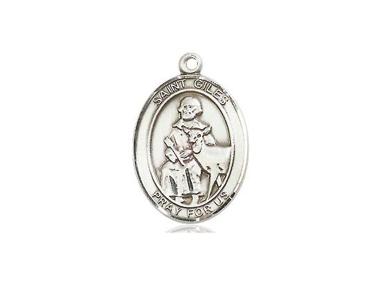 Saint Giles Silver Pendant With Chain Religious