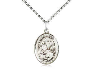Saint Fina Silver Pendant With Chain Religious
