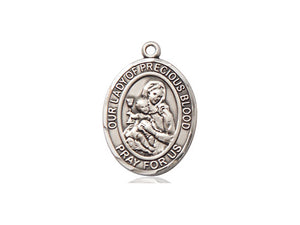 Our Lady Of The Precious Blood Silver Pendant And Chain