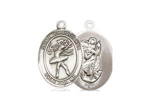 Saint Christopher Silver Dance Pendant And Silver Chain