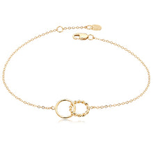 Load image into Gallery viewer, Twisted Ring Gold Anklet Adjustable