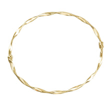 Load image into Gallery viewer, 14k Yellow Gold Twist Bangle Bracelet