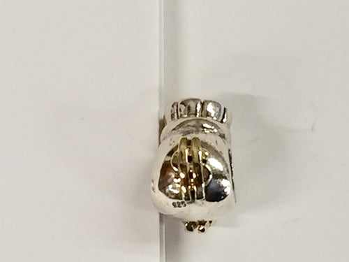 Silver And Gold Money Bag Bead