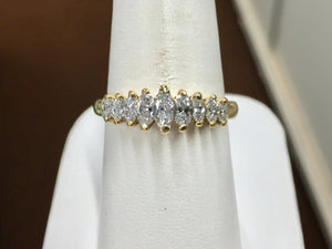 Marquise Diamond Ring 18 K Gold 0.65 Carats