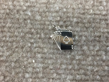 Load image into Gallery viewer, Royal Straight Flush Cards Silver Charm