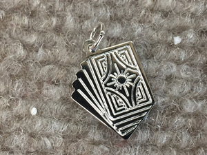 Royal Straight Flush Cards Silver Charm