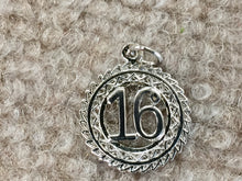 Load image into Gallery viewer, Sweet 16 Silver Charm