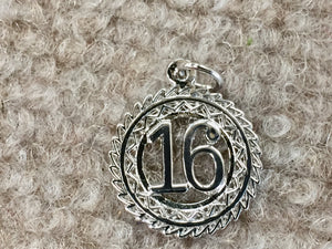 Sweet 16 Silver Charm